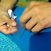 Puhafalú medence foltozása