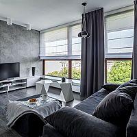 Moderné biele rolety v interiéri