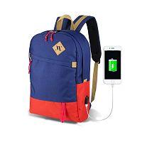 FREEDOM Smart Bag kék-piros hátizsák USB csatlakozóval - My Valice