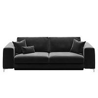 Rothe sötétszürke háromszemélyes kinyitható kanapé - devichy