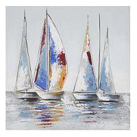 Vela Calm kézzel festett kép fenyőfa keretben, 60 x 60 cm - Mauro Ferretti