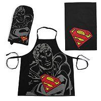 Superman konyhai szett, fekete