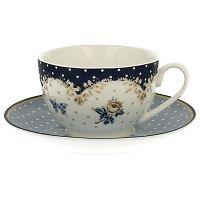 Alaska porcelán bögre alátéttel, 250 ml - Duo Gift