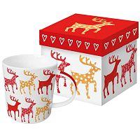 Anneko Deer porcelán bögre karácsonyi motívummal, díszdobozban, 350 ml - PPD