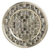 Aranyszínű műanyag tányér, ⌀ 36 cm - InArt