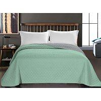 Axel zöld mikroszálas ágytakaró, 200 x 220 cm - DecoKing