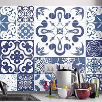 Azulejos Polka 24 részes matrica szett, 90 x 75 cm - Ambiance