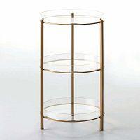 Bar 3 szintes rakodóasztal arany színben, 40 x 73 cm - Thai Natura