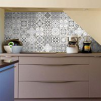 Bari dekoratív matrica szett, 30 darab, 15 x 15 cm - Ambiance