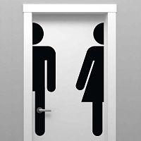Bathroom Door matrica - Ambiance