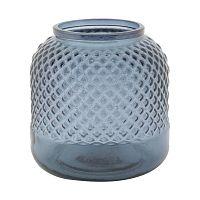 Bolt kék újrahasznosított üveg váza, ⌀ 19 cm - Mauro Ferretti