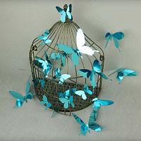 Butterflies kék 3D falmatrica, 12 darab - Ambiance