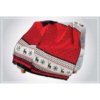 Carmelo piros takaró pamut keverékből, 200 x 150 cm - Aksu
