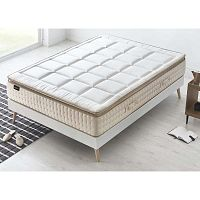 Cashmere fehér matrac krémszínű szegéllyel, 160 x 200 cm - Bobochic Paris