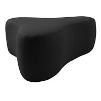 Chat Valencia Black fekete puff, hosszúság 90 cm - Softline