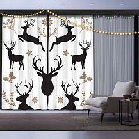 Christmas Deer 2 részes karácsonyi függöny szett,