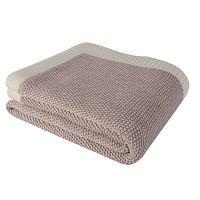 Clen rózsaszín pamut ágytakaró, 130 x 170 cm