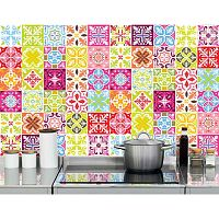 Colored 60 részes matricaszett, 10 x 10 cm - Ambiance