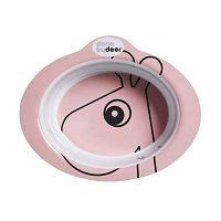 Contour világos-rózsaszín csúszásmentes gyermek tál - Done by Deer