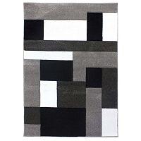 Cosmos Black Grey feketésszürke szőnyeg, 160 x 230 cm - Flair Rugs