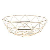 Diamond aranyszínű gyümölcskosár, ⌀ 35 cm - PT LIVING