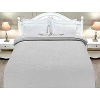 Ditha szürke pamut ágytakaró kétszemélyes ágyra, 200 x 220 cm - Madame Coco
