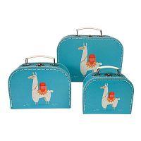 Dolly Llama 3 darab gyerek bőrönd - Rex London