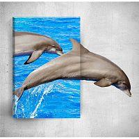 Dolphins 3D fali kép, 40 x 60 cm - Mosticx