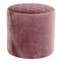 Ejby rózsaszín bársony puff - House Nordic