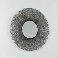 Falitükör szürke keretben, ∅ 67 cm - Thai Natura