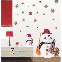 Fanastick Christmas Red Flakes 30 darabos karácsonyi falmatrica készlet - Ambiance