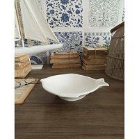 Fishy 6 darabos fehér kerámia tányérszett - Orchidea Milano