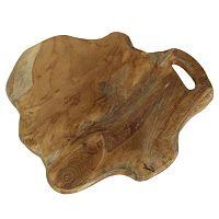 Flate teakfa vágódeszka, hossza 38 cm - HSM collection
