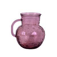 Flora rózsaszín kancsó újrahasznosított üvegből, 2,3 l - Ego Dekor