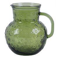 Flora zöld kancsó újrahasznosított üvegből, 2,3 l - Ego Dekor