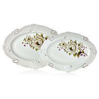 Franz Johann 2 darabos porcelántál szett