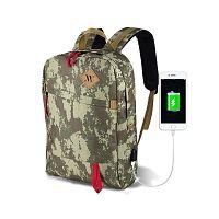 FREEDOM Smart Bag Camouflage hátizsák USB csatlakozóval - My Valice