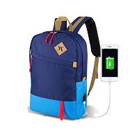 FREEDOM Smart Bag Mavi kék hátizsák USB csatlakozóval - My Valice