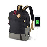 FREEDOM Smart Bag szürke-fekete hátizsák USB csatlakozóval - My Valice