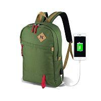 FREEDOM Smart Bag zöld hátizsák USB csatlakozóval - My Valice