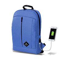 GALAXY Smart Bag kék hátizsák USB csatlakozóval - My Valice