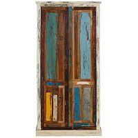Garza 2 ajtós ruhásszekrény, egzotikus fából - Støraa