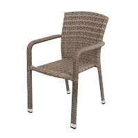 Getafe világosbarna rakásolható kerti fotel - ADDU