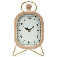 Glam rózsaszín asztali óra arany színű részletekkel - Mauro Ferretti