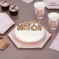 Glitz & Glamour Happy Birthday papír tortadísz - Neviti