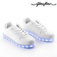 GlowFlow Trainers fehér világító LED cipő, méret 41 - InnovaGoods