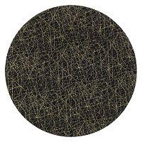 Golden fekete műanyag tányér, ⌀ 33 cm - InArt
