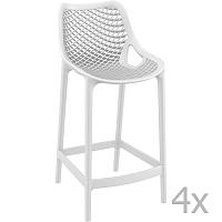 Grid fehér bárszék, magasság 65 cm, 4 darab - Resol