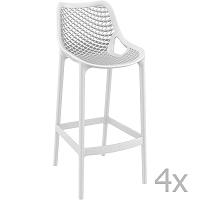 Grid Simple fehér bárszék, magasság 75 cm, 4 darab - Resol