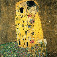 Gustav Klimt The Kiss másolat, 30 x 30 cm